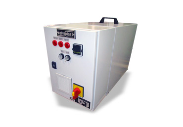 Tempering control units with circulation medium water